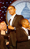 Washington, DC - January 20, 2009 -- United States President Barack Obama attends the Biden Home States Ball at the Washington Convention Center on January 20, 2009 in Washington, DC. Obama became the first African-American to be elected to the office of President in the history of the United States..Credit: Chip Somodevilla - Pool via CNP
