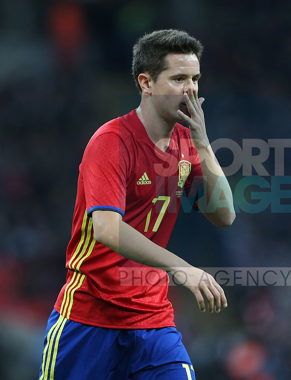 Spain's Ander Herrera in action during the friendly match at Wembley Stadium, London. Picture date November 15th, 2016 Pic David Klein/Sportimage