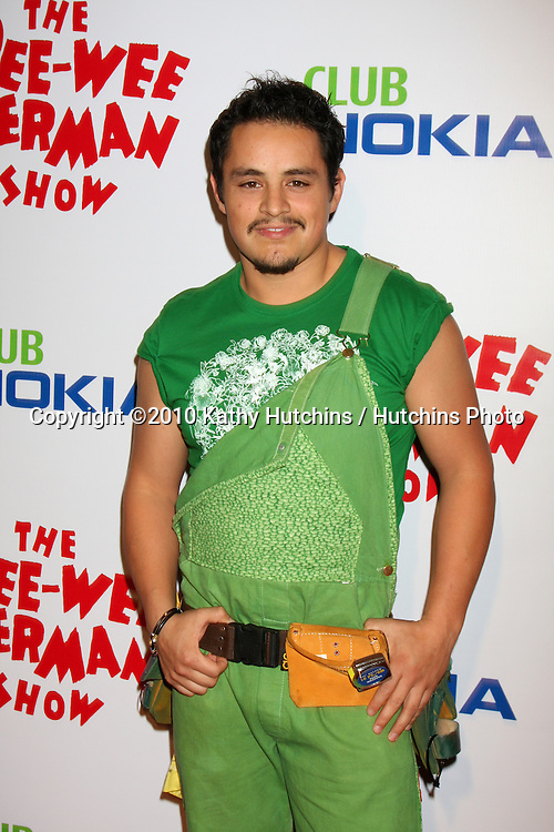 "Jesse Garcia as Sergio.arriving at the ""The Pee Wee Herman Show"" Opening Night..Club Nokia.Los Angeles, CA.January 20, 2010.©2010 Kathy Hutchins / Hutchins Photo...."