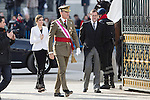 King Felipe VI of Spain, Queen Letizia of Spain and Spain's acting Prime Minister Mariano Rajoy during the Military Eastern (Pascua Militar) at the Royal Palace in Madrid, Spain. January 06, 2015. (ALTERPHOTOS/Pool)