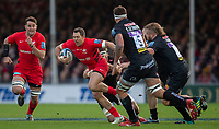 Saracens' Alex Goode in action during todays match<br /> <br /> Photographer Bob Bradford/CameraSport<br /> <br /> Gallagher Premiership Round 10 - Exeter Chiefs v Saracens - Saturday 22nd December 2018 - Sandy Park - Exeter<br /> <br /> World Copyright &copy; 2018 CameraSport. All rights reserved. 43 Linden Ave. Countesthorpe. Leicester. England. LE8 5PG - Tel: +44 (0) 116 277 4147 - admin@camerasport.com - www.camerasport.com