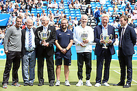 Four-time champions: John McEnroe, Boris Becker, Lleyton Hewitt and Roy Emerson<br /> at Aegon Queens Tennis Championship June 17, 2016 in London England.<br /> CAP/GOL<br /> &copy;GOL/Capital Pictures /MediaPunch ****NORTH AND SOUTH AMERICAS ONLY***