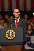 MIAMI, FL - JUNE 16: Florida Governor Rick Scott speaks ahead of President Donald Trump announcing policy changes toward Cuba at the Manuel Artime Theater in the Little Havana neighborhood on June 16, 2017 in Miami, Florida. The President will re-institute some of the restrictions on travel to Cuba and U.S. business dealings with entities tied to the Cuban military and intelligence services.  Credit: MPI10 / MediaPunch