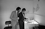 Now! magazine  28th of April 1981 closes down, June Stanier picture editor and ?? checking photographs on the office llightbox.<br /> <br /> Sir James Goldsmith closed down his weekly news magazine Now! due to unprofitable trading on Monday 27th April 1981.
