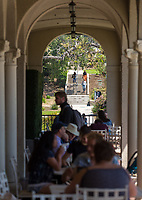 Branca Patio, March 28, 2018.<br /> (Photo by Marc Campos, Occidental College Photographer)
