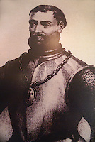 Portrait of Francisco Hernandez de Cordoba, discoverer of the Yucatan peninsula, Museo Historico Naval or Naval History Museum, city of Veracruz, Mexico