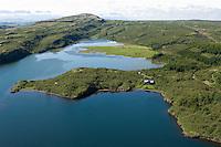 Hreðavatn séð til suðurs, Borgarbyggð áður Stafholtstungnahreppur fremst / Lake Hredavatn viewing south. Borgarbyggd former Stafholtstungnahreppur.
