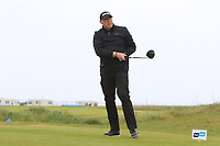 Gary Cullen (The Links Portmarnock) on the 1st tee during Round 1of the Flogas Irish Amateur Open Championship 2019 at the Co.Sligo Golf Club, Rosses Point, Sligo, Ireland. 16/05/19<br /> <br /> Picture: Thos Caffrey / Golffile<br /> <br /> All photos usage must carry mandatory copyright credit (© Golffile | Thos Caffrey)