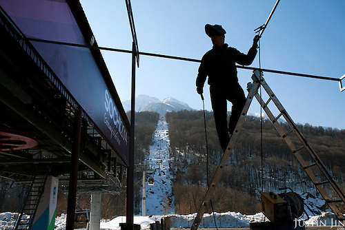 Russia's Black Sea coastal city of Sochi is being prepared for its bid to host the 2014 Winter Olympics.  .The resort is perched on the foot of snow-capped mountains.