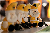3rd November 2017, Molineux, Wolverhampton, England; EFL Championship football, Wolverhampton Wanderers versus Fulham; Miniature father Christmas toys in the Wolverhampton Wanderers club shop