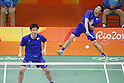 Hiroyuki Endo &amp; Kenichi Hayakawa (JPN), <br /> AUGUST 15, 2016 - Badminton : <br /> Men's Doubles Quarter finals<br /> at Riocentro - Pavilion 4 during the Rio 2016 Olympic Games in Rio de Janeiro, Brazil. <br /> (Photo by Yusuke Nakanishi/AFLO SPORT)