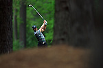 AUGUSTA, GA - APRIL 8:  Tiger Woods hits off the fairway during the 2010 Masters Tournament held in Augusta, Georgia at Augusta National Golf Club on April 8, 2010. (Photo by Donald Miralle)..