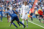 Real Madrid´s Luka Modric (R) and Getafe´s Victor Rodriguez during La Liga match at Santiago Bernabeu stadium in Madrid, Spain. December 05, 2015. (ALTERPHOTOS/Victor Blanco)