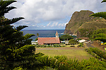 Kahakuloa Village, a tight-knit community located on West Maui's rugged North Shore.