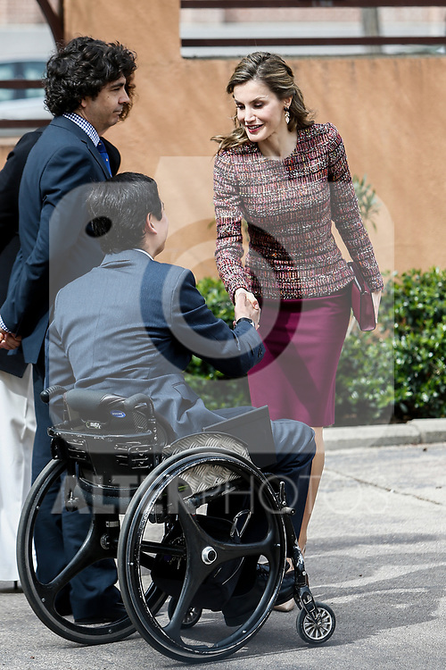 Queen Letizia attends at Spanish documentation center on disability  in Madrid, Spain. March 21, 2017. (ALTERPHOTOS / Rodrigo Jimenez)
