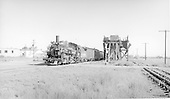 D&amp;RGW #472 with San Juan/Chili Line consist arriving at Antonito and passing the coaling trestle.<br /> D&amp;RGW  Antonito, CO  Taken by Lunoe, Bob - 8/25/1941