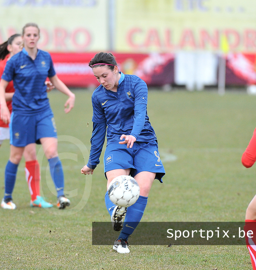Switzerland U19 - France U19 : Clarisse Le Bihan.foto DAVID CATRY / Nikonpro.be