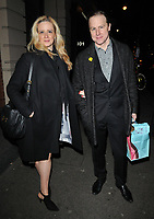 "Laura Wade and Samuel West at the ""Home, I'm Darling"" press night, Duke of York's Theatre, St Martin's Lane, London, England, UK, on Tuesday 05th February 2019.<br /> CAP/CAN<br /> ©CAN/Capital Pictures"
