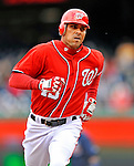2 April 2011: Washington Nationals outfielder Rick Ankiel rounds the bases after hitting a home run against the Atlanta Braves at Nationals Park in Washington, District of Columbia. The Nationals defeated the Braves 6-3 in the second game of their season opening series. Mandatory Credit: Ed Wolfstein Photo