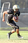 Palos Verdes, CA 10/02/09 - The Vista Murietta Broncos visited the Peninsula Panthers in a non-league contest, won 43-21 by Vista Murietta.  In action are Ridge Abraham (#1)