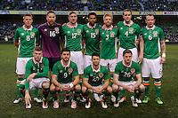 29/03/2016;International Friendly - Republic of Ireland vs Slovakia, Aviva Stadium, Dublin<br /> The Republic of Ireland Team.<br /> Photo Credit: actionshots.ie/Tommy Grealy