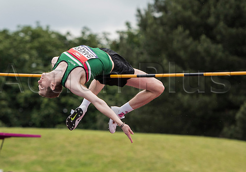 26.06.2016. Alexander Stadium, Birmingham, England. The British Athletics Championships 2016.<br /> Chris Baker Competes in the Mens High Jump Final at the British Athletics Championships in Birmingham.