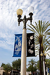 Banners for San Gabriel arts on lightpost in San Gabriel, California