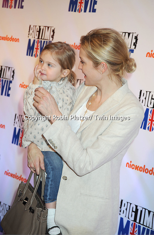 """Helena and mom Kelly Rutherford attend The movie premiere of """" Big Time Movie"""" starring .Big Time Rush of Nickelodeon on March 8, 2012 at 583 Park Avenue in New York City."""