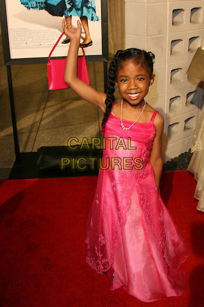 "CHINA ANDERSON.""Madea's Family Reunion"" Premiere - Arrivals held at the Cinerama Dome, Hollywood, California, USA, .21 February 2006..full length pink dress child.Ref: ADM/ZL.www.capitalpictures.com.sales@capitalpictures.com.© Capital Pictures."