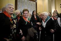 Roma, 16 Aprile 2015<br /> Laura Boldrini incontra le partigiane e i partigiani.<br /> Celebrazione alla Camera dei deputati del 70° anniversario della liberazione dal nazifascismo.
