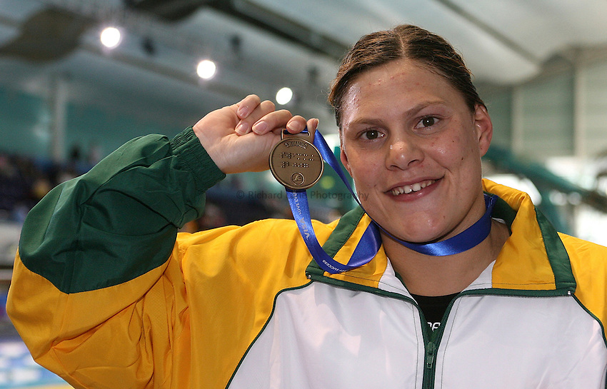 Photo: Paul Thomas..VISA Paralympic World Cup 2007. Swimming. 12/05/2007...Natalie du Toit of South Africa.