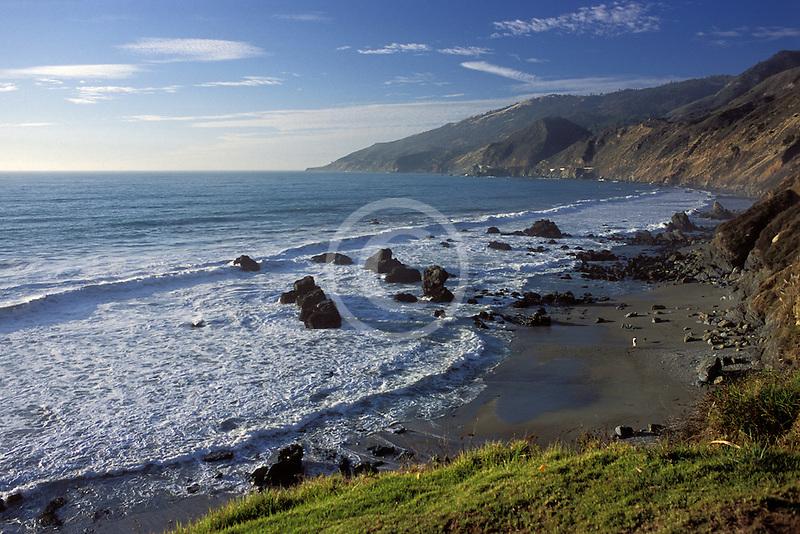 California, Big Sur, Coastline, Kirk Creek, Lucia