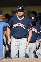 Connecticut Tigers manager Andrew Graham (17) during game against the Staten Island Yankees at Richmond County Bank Ballpark at St.George on July 7, 2013 in Staten Island, NY.  Staten Island defeated Connecticut 6-2.  (Tomasso DeRosa/Four Seam Images)