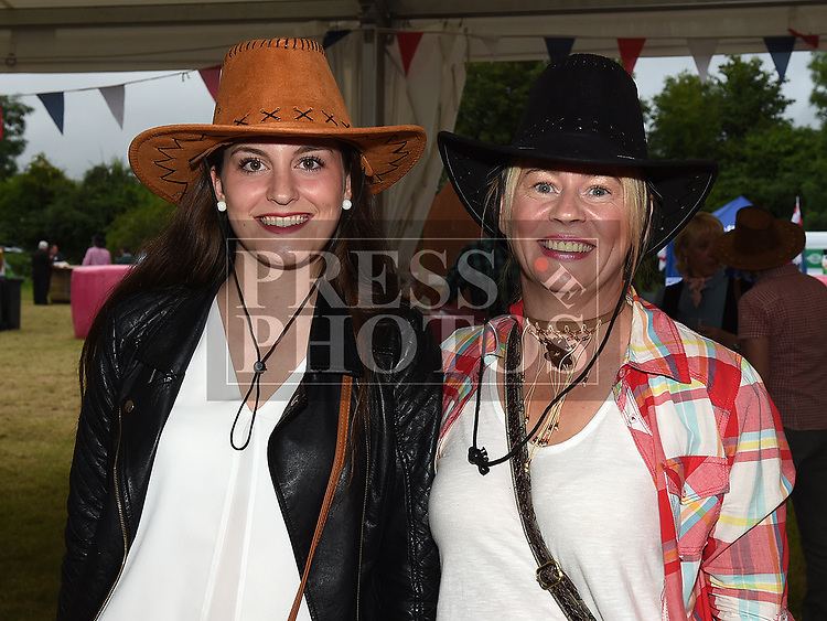 Eugenie Inbert and Sinead Murtagh at the Big Country night in Cushinstown Athletic Club in aid of the Oncology Unit at Our Lady of Lourdes Hospital. Photo:Colin Bell/pressphotos.ie