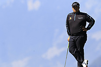 Kiradech Aphibarnrat (THA) on the 7th green during Saturday's Round 3 of the 2018 Omega European Masters, held at the Golf Club Crans-Sur-Sierre, Crans Montana, Switzerland. 8th September 2018.<br /> Picture: Eoin Clarke | Golffile<br /> <br /> <br /> All photos usage must carry mandatory copyright credit (&copy; Golffile | Eoin Clarke)