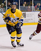 Stephane Da Costa (Merrimack - 24) - The Merrimack College Warriors defeated the Boston College Eagles 5-3 on Sunday, November 1, 2009, at Lawler Arena in North Andover, Massachusetts splitting the weekend series.