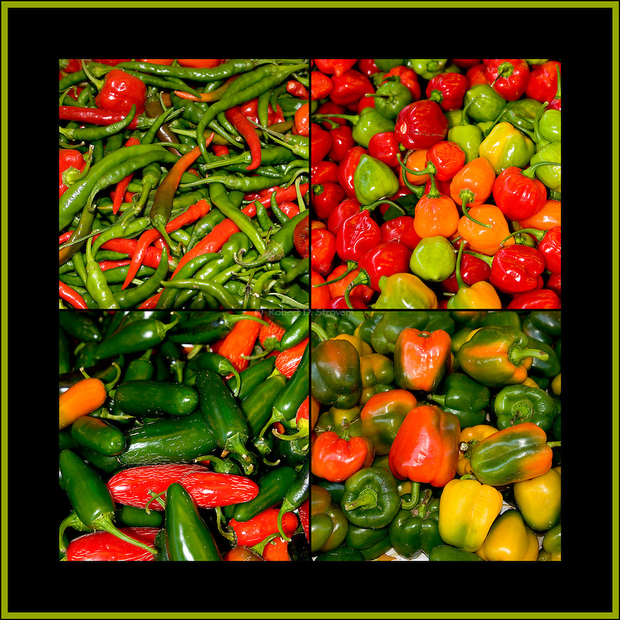 Fresh Food - Peppers, Square crop