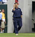 2 August 2004: Chelsea boss Jose Mourinho walks to the bench before the game. AC Milan of La Liga in Italy defeated Chelsea of the English Premier League 3-2 at Lincoln Financial Field in Philadelphia, PA in a ChampionsWorld Series friendly match...