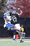 UK cornerback Cody Quinn blocks a pass to Vanderbilt wide receiver Jordan Matthews during the first half of the University of Kentucky vs. Vanderbilt University football game at Vanderbilt Stadium in Nashville, Tenn., on Saturday, November 16, 2013. Vanderbilt won 22-6. Photo by Tessa Lighty | Staff