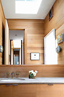 classic minimal bathroom with vendilation