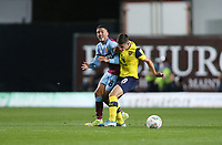 West Ham United's Pablo Fornals and Oxford United's Cameron Brannagan<br /> <br /> Photographer Rob Newell/CameraSport<br /> <br /> The Carabao Cup Third Round - Oxford United v West Ham United - Wednesday 25th September 2019 - Kassam Stadium - Oxford<br />  <br /> World Copyright © 2019 CameraSport. All rights reserved. 43 Linden Ave. Countesthorpe. Leicester. England. LE8 5PG - Tel: +44 (0) 116 277 4147 - admin@camerasport.com - www.camerasport.com