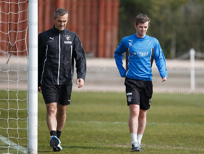 David Templeton with physio Stevie Walker
