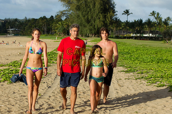 Shailene Woodley, George Clooney, Amara Miller & Nick Krause .in The Descendants.*Filmstill - Editorial Use Only*.CAP/NFS.Supplied by Capital Pictures.