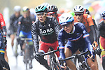 Riders including Rafal Majka (POL) tackle the 9 laps of the Harrogate circuit during the Men Elite Road Race of the UCI World Championships 2019 running 261km from Leeds to Harrogate, England. 29th September 2019.<br /> Picture: Eoin Clarke | Cyclefile<br /> <br /> All photos usage must carry mandatory copyright credit (© Cyclefile | Eoin Clarke)