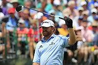 J.B. Holmes (USA) on the 1st tee to start his match during Sunday's Final Round of the 117th U.S. Open Championship 2017 held at Erin Hills, Erin, Wisconsin, USA. 18th June 2017.<br /> Picture: Eoin Clarke | Golffile<br /> <br /> <br /> All photos usage must carry mandatory copyright credit (&copy; Golffile | Eoin Clarke)