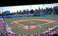 Ballparks: Nat Bailey Stadium, Vancouver, B.C. July 29, 1992. 12:15 PM start. Full house--Vancouver Canadians vs. Edmonton Trappers. 7000?