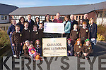 Chairperson Anne-Marie Burke- Rogers and Members of the Gaelscoil MHic Easmainn parents Association presented a cheque for €4,500 to Principal Cait Ui Chonchuir and students on Monday. Funds raised from the Christmas Fair in December 2013