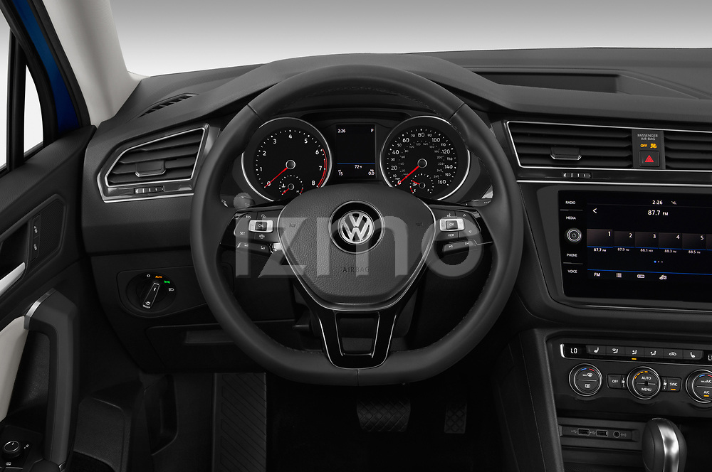 Car pictures of steering wheel view of a 2019 Volkswagen Tiguan Confrontline-business  5 Door SUV