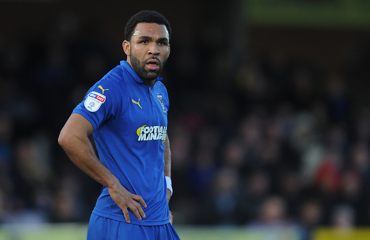 AFC Wimbledon's Andy Barcham<br /> <br /> Photographer Kevin Barnes/CameraSport<br /> <br /> The EFL Sky Bet League One - AFC Wimbledon v Blackpool - Saturday 29th December 2018 - Kingsmeadow Stadium - London<br /> <br /> World Copyright © 2018 CameraSport. All rights reserved. 43 Linden Ave. Countesthorpe. Leicester. England. LE8 5PG - Tel: +44 (0) 116 277 4147 - admin@camerasport.com - www.camerasport.com