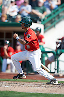 Fort Wayne TinCaps second baseman B.J. Guinn #3 during a Midwest League game against the Dayton Dragons at Parkview Field on August 19, 2012 in Fort Wayne, Indiana.  Dayton defeated Fort Wayne 5-1.  (Mike Janes/Four Seam Images)